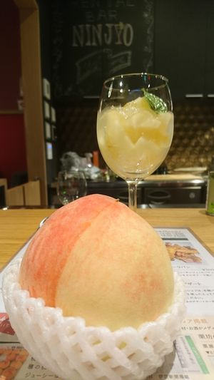 杉山農園の長田の桃と桃スイーツ